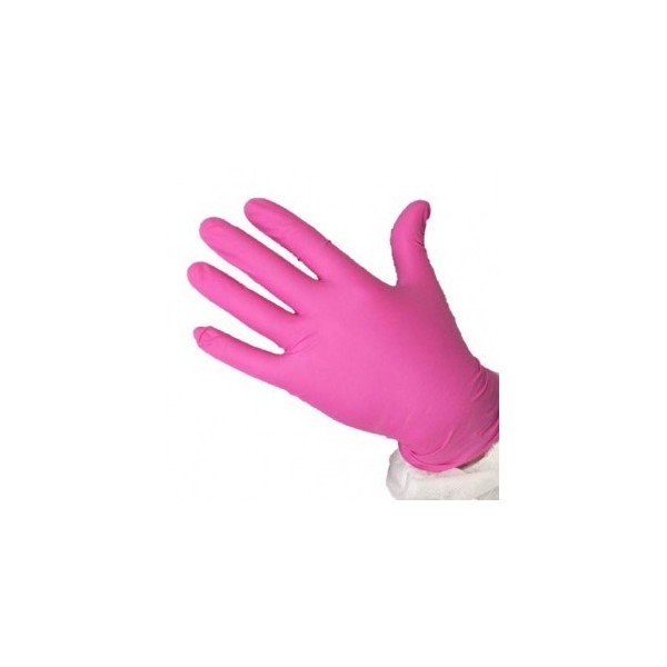 NITRILE GLOVES 200 PINK
