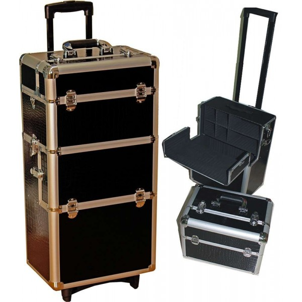Beauty case trolley 2 in 1