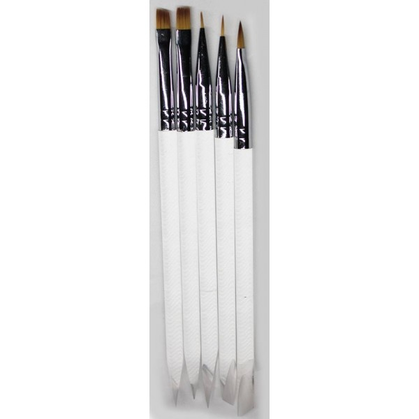 SET 5 Brushes ( 2X GEL,2X NAIL ART,1X ACRYL)