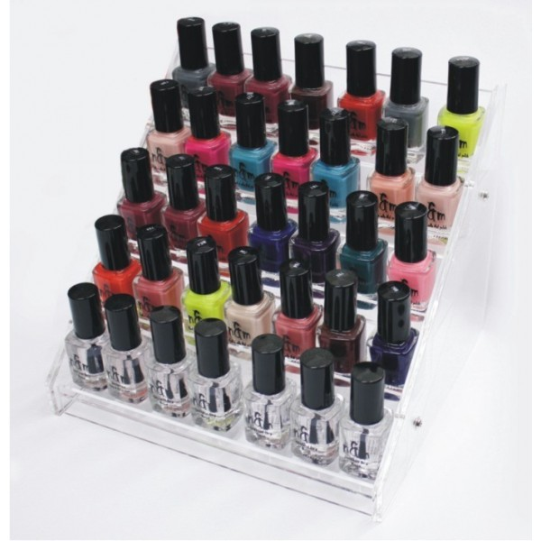Nail polish stant for 35 bottles
