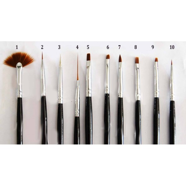 Nail art brush for one stroke and other purposes