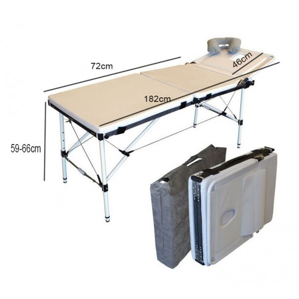 Massage bed aluminum