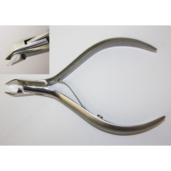 CUTICLE NIPPER 10cm stainless stell single spring, 2-2,5mm tip, Pointed Tips, precision sharp