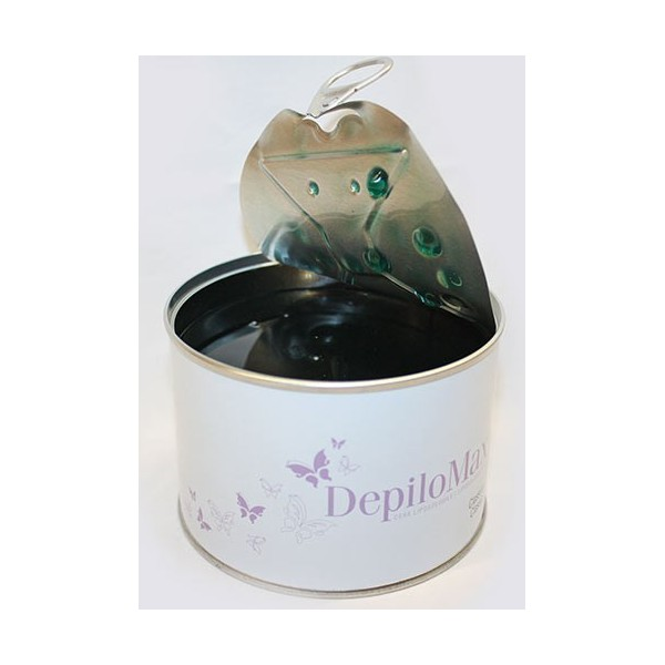 Green depilatory wax in box 400ml
